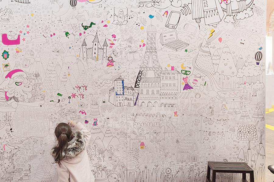mur coloriage